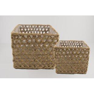 Wicker/Rattan 2 Piece Basket Set By Beachcrest Home