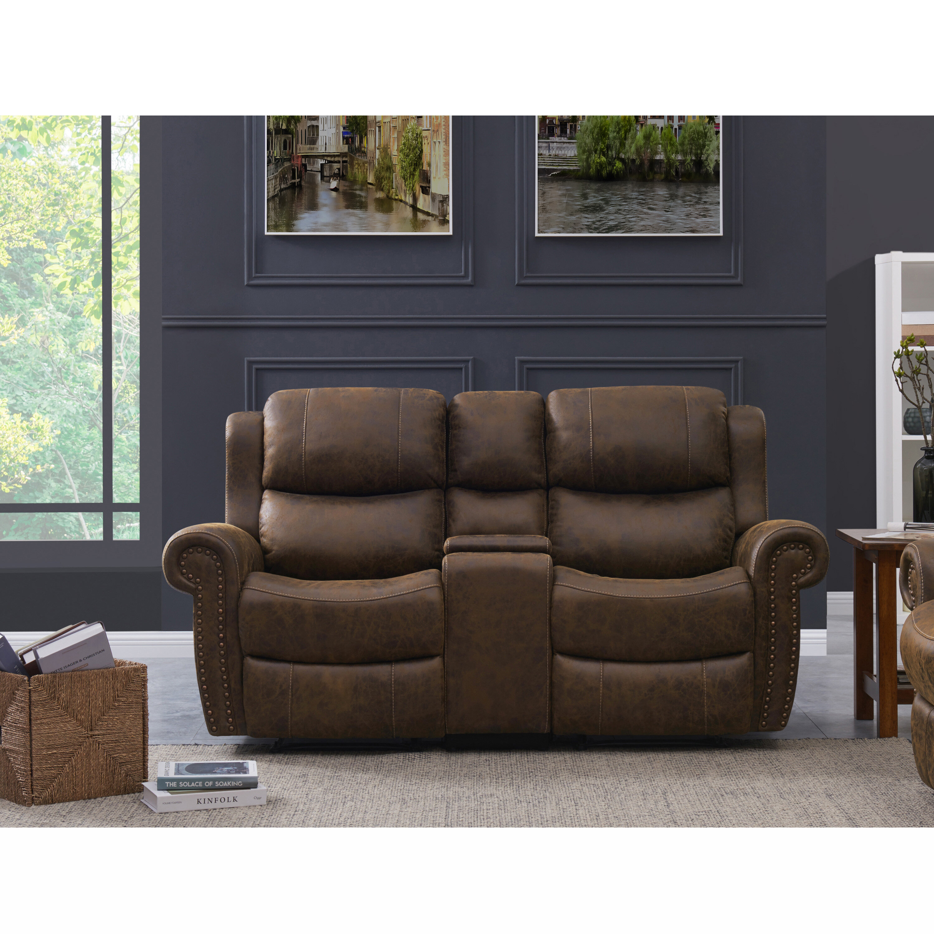 Cool 2 Seat Rolled Arm Wall Hugger Theater Loveseat Dailytribune Chair Design For Home Dailytribuneorg