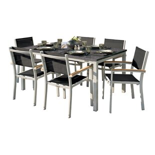 Latitude Run Laskowski 7 Piece Teak Dining Set