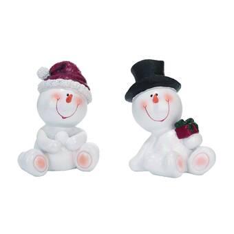 The Holiday Aisle 2 Piece Christmas Santa With Fur Coat Figurine Set Wayfair