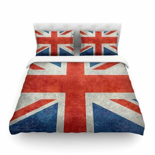 UK Union Jack Flag by Bruce Stanfield Featherweight Duvet Cover