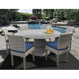 TK Classics Oasis 7 Piece Dining Set with Cushions