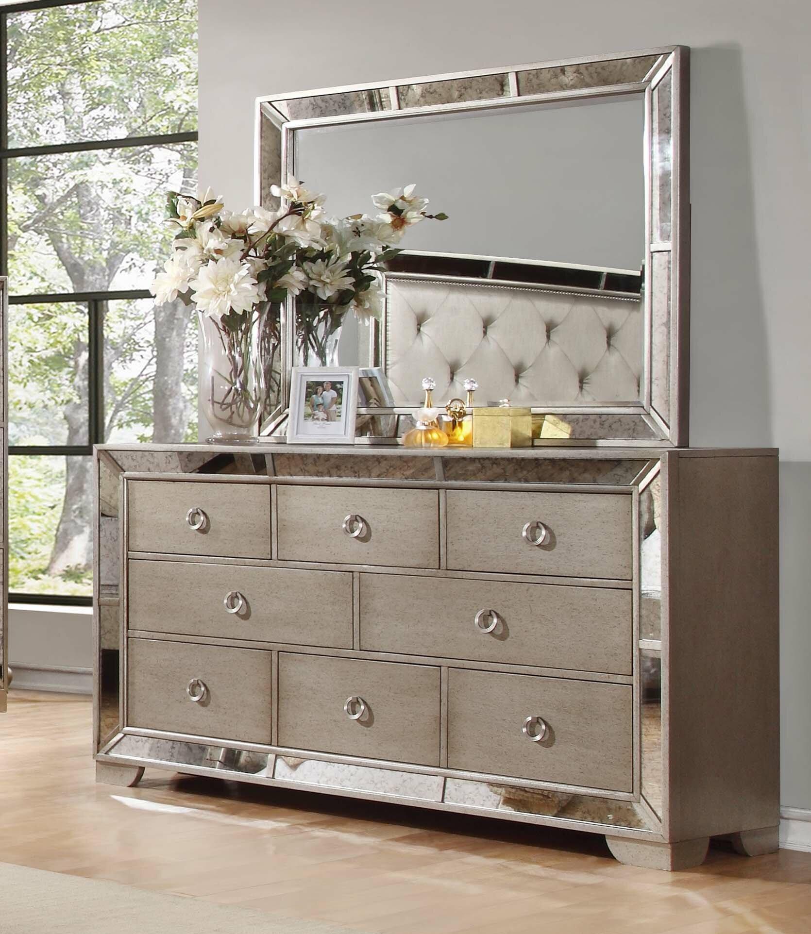 Willa Arlo Interiors Dowson 8 Drawer Dresser With Mirror Reviews