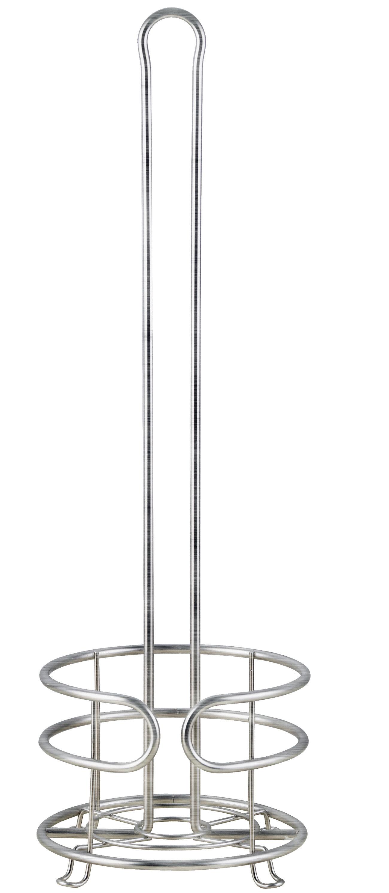 Iron Metal Standing TOILET PAPER Holder Tissue Floor Stand Rack Bathroom Decor Tripar