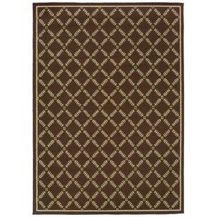 Newfield Brown/Ivory Indoor/Outdoor Area Rug byThreadbind