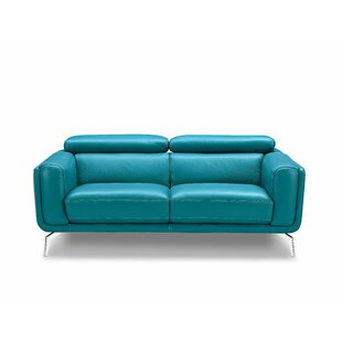 Shop Lora Leather Loveseat by Orren Ellis