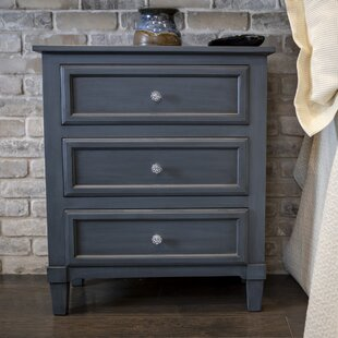 Swanage 3 Drawer Nightstand by Charlton Home