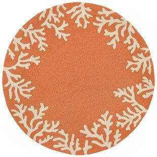 Claycomb CAP Hand-Tufted Orange Indoor/Outdoor Area Rug