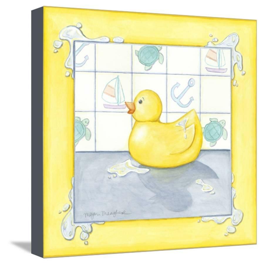 Room 365 \'Rubber Duck II\' Graphic Art Print on Canvas | Wayfair