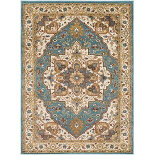 Piccirillo Teal Metallic Gold Area Rug