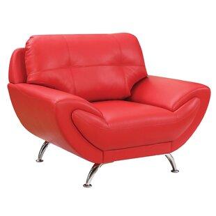 Orren Ellis Lemuel Tufted Leather Armchair