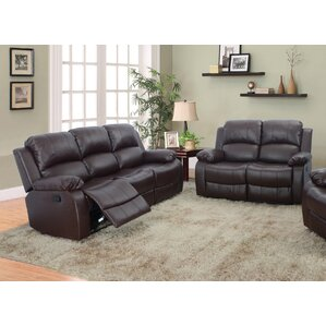 Maumee 2 Piece Leather Living Room Set by Re..