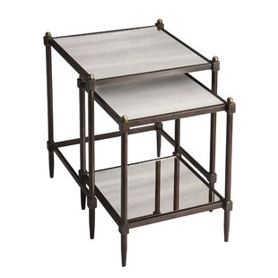 Finest Chrystal 2 Piece Nesting Tables By Fleur De Lis Living | Compare Price NW61