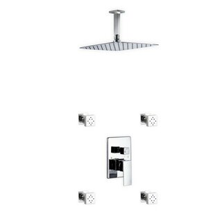 Rebrilliant Cahoon Diverter Rain Shower Head Complete Shower System