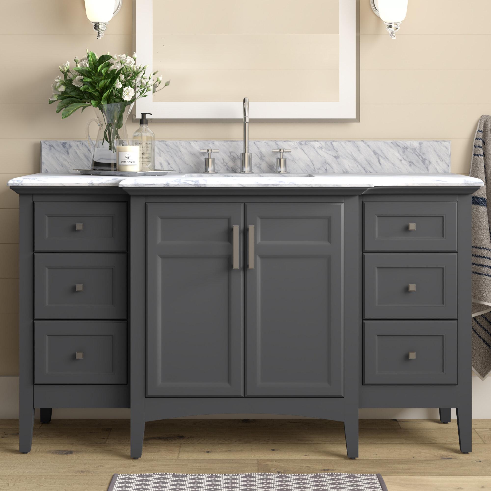 56 60 Bathroom Vanities Free Shipping Over 35 Wayfair