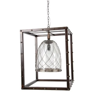 1-Light Square/Rectangle Pendant by A&B Home