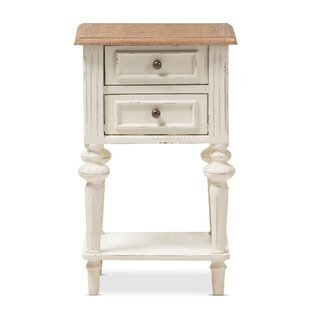 Westrick French Provincial 2 Drawer Nightstand by Ophelia & Co.