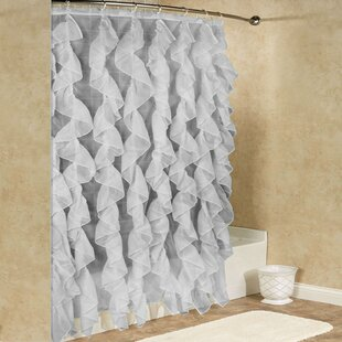 Look for Chic Sheer Voile Vertical Waterfall Ruffled Shower Curtain By Sweet Home Collection