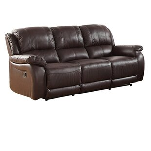 Juan Leather Reclining Sofa By Latitude Run