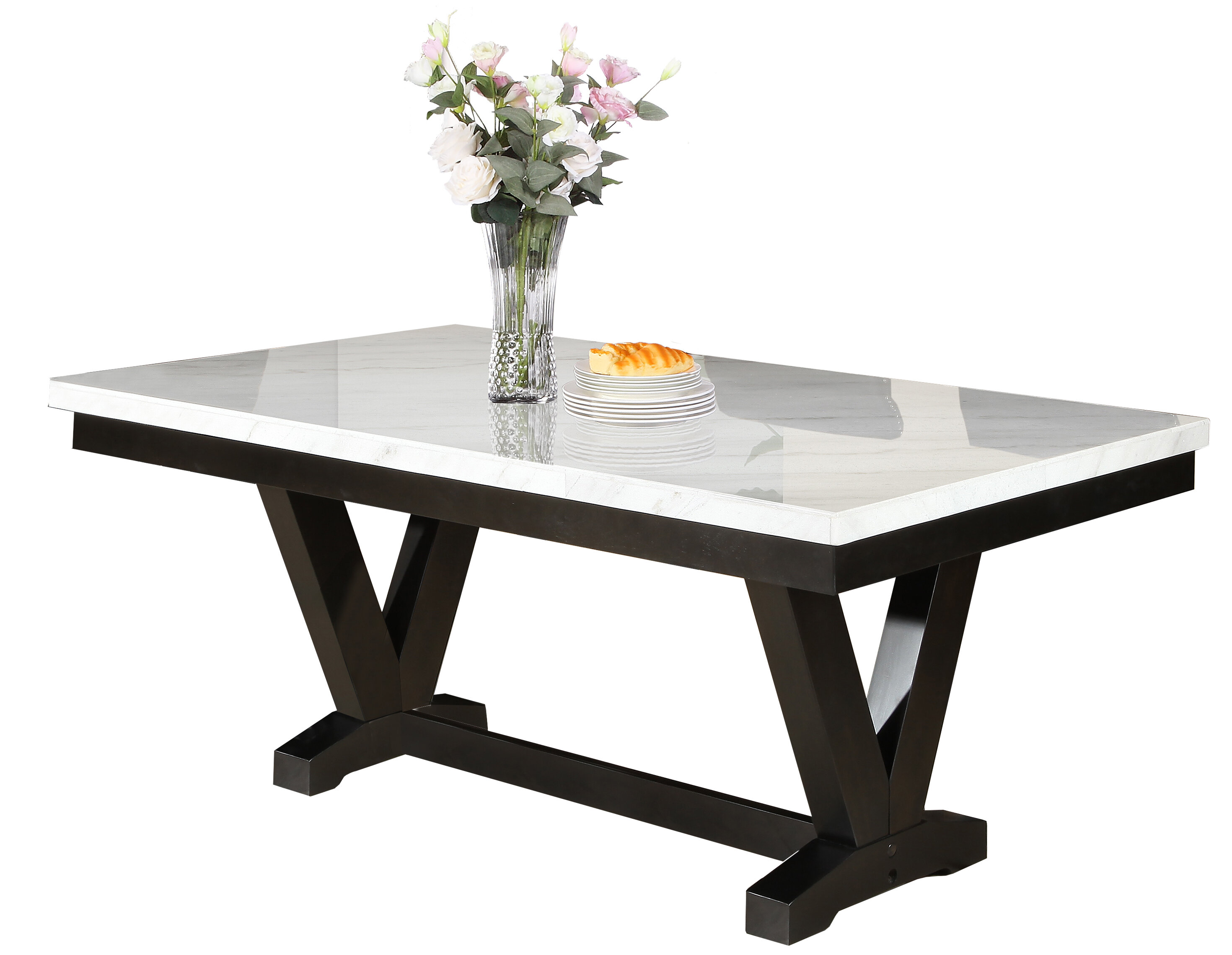 Merveilleux Cedric Marble Top Dining Table