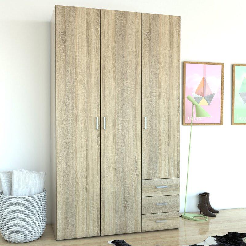 Minda 3 Drawer and 3 Door Armoire & Zipcode Design Minda 3 Drawer and 3 Door Armoire \u0026 Reviews | Wayfair