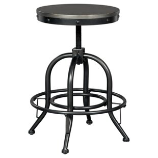 Lowther Adjustable Height Swivel Bar Stool (Set of 4) by 17 Stories