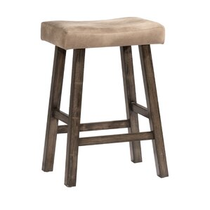 Kapono Non-Swivel Backless Bar Stool by Loon Peak