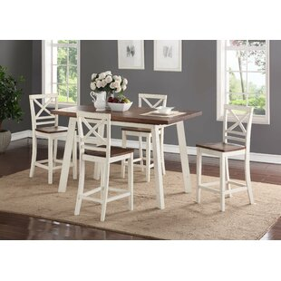 Yeboah 5-Piece Counter Height Dining Set August Grove