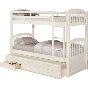 Kamryn Twin Bunk Bed with Trundle and Storage by Viv + Rae