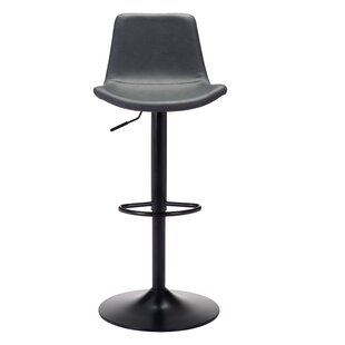 Rarick Adjustable Height Swivel Bar Stool by Brayden Studio