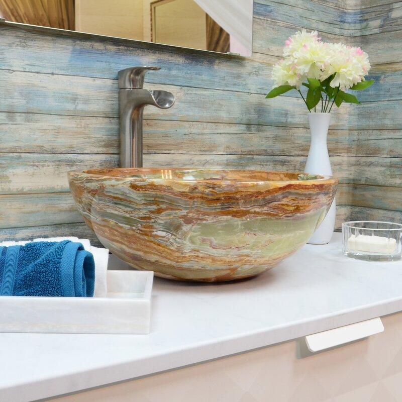Onyx Marble Designs Stone Circular Vessel Bathroom Sink Reviews Wayfair