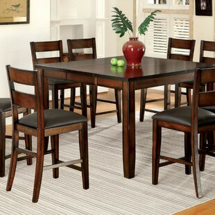 RJ Cottage Counter Height Solid Wood Dining Table Red Barrel Studio