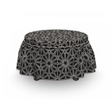 Hexagons Squares and Stars Ottoman Slipcover (Set of 2) by East Urban Home