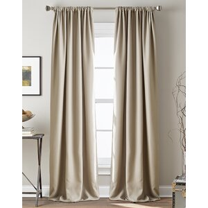 Broad Brook Solid Room Darkening Rod Pocket Single Curtain Panel