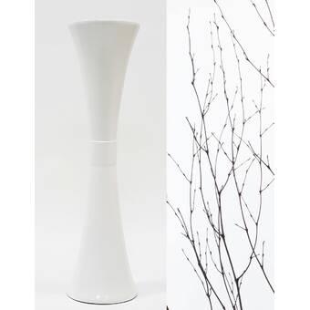 World Menagerie Bakerstown Aluminum Wood Floor Vase Wayfair
