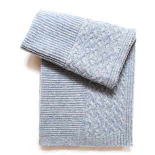 Reviews Cable Border Wool Blend Baby Blanket ByEsteffi