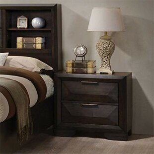 Maumee Wooden 2 Drawer Nightstand