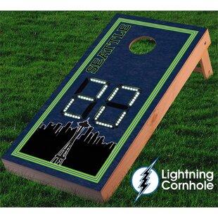 Lightning Cornhole Electronic Scoring Seattle Skyline Cornhole Board