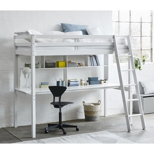 Review Breen European Single (90 X 200cm) High Sleeper Bed With Shelves