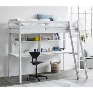 Sale Price Breen European Single (90 X 200cm) High Sleeper Bed With Shelves