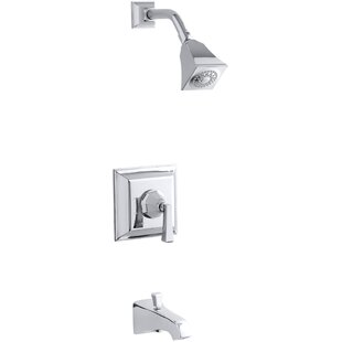 Kohler Memoirs Stately Rite-Temp Pressure-Balancing Bath and Shower Faucet Trim with Deco Lever Handle, Valve Not Included