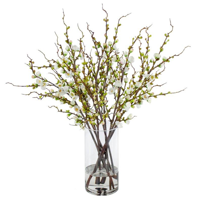 Jane Seymour Botanicals Peach Blossom Branches Floral Arrangement In