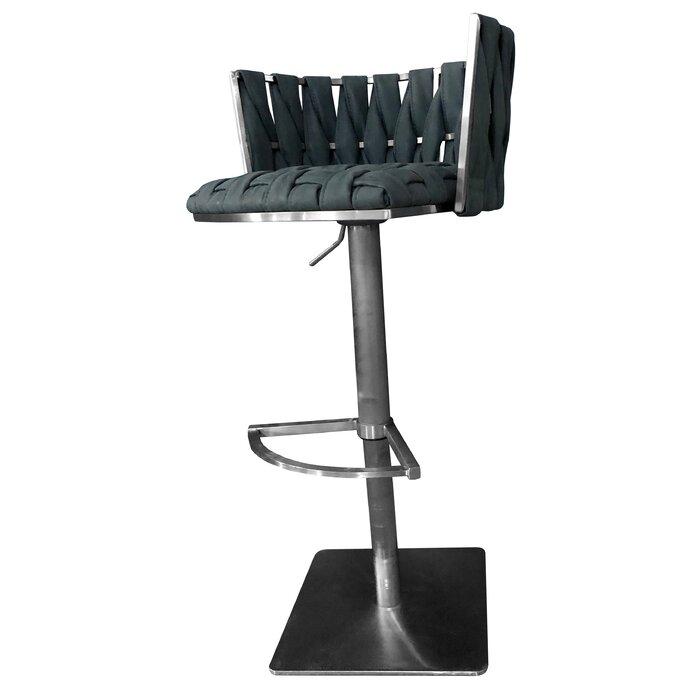 Amazing Willmar Adjustable Height Swivel Bar Stool Dailytribune Chair Design For Home Dailytribuneorg