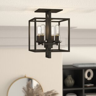 Borkowski 4-Light Semi Flush Mount by Mercury Row