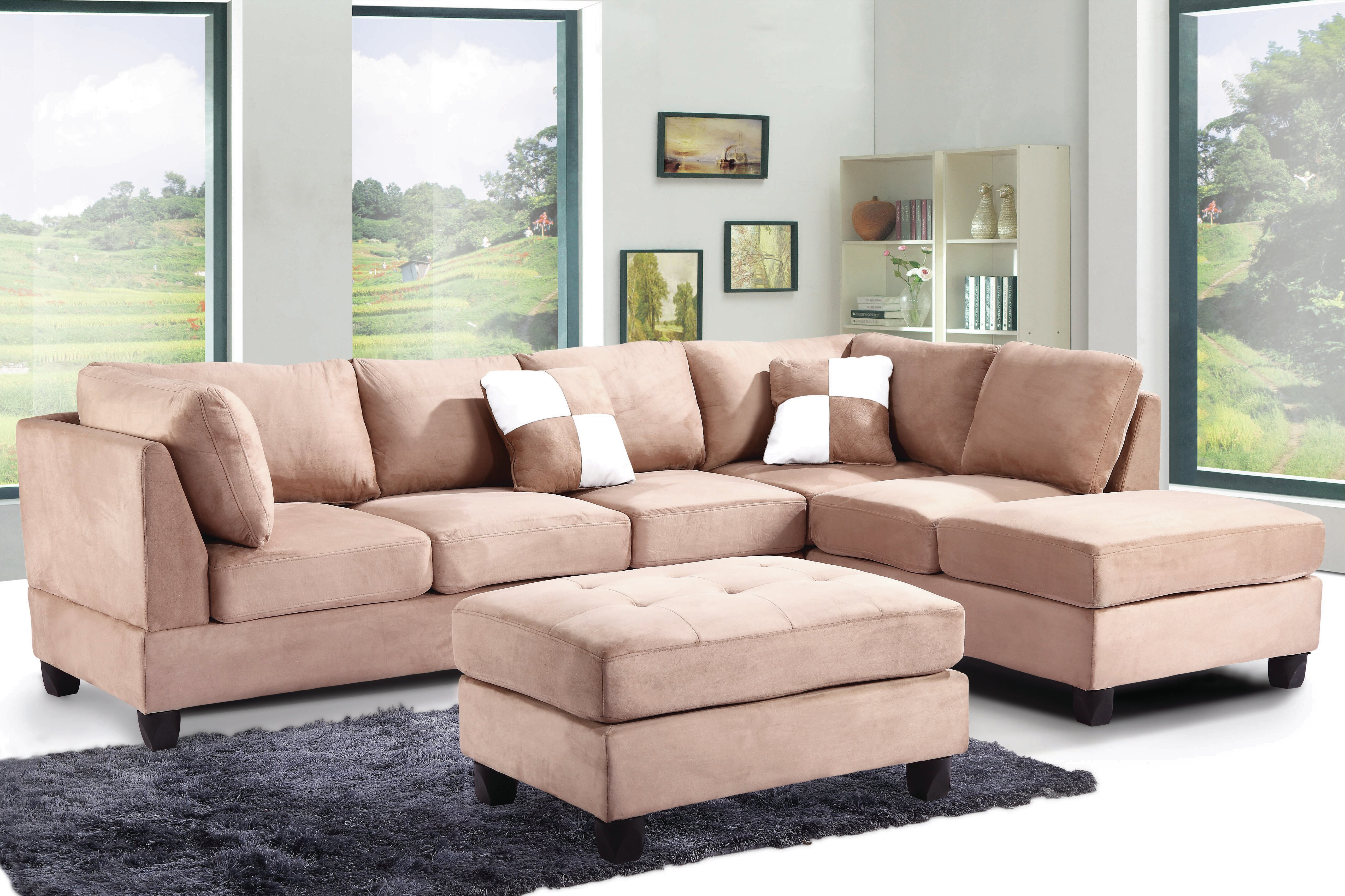 Andover mills bruns reversible sectional reviews wayfair