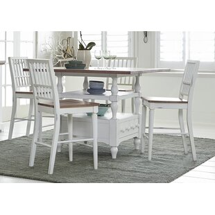 Galliano 5 Piece Dining Set Rosecliff Heights