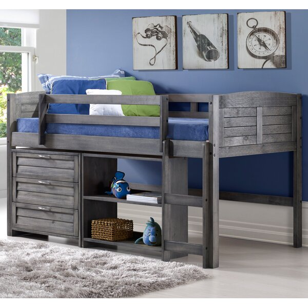 Evan Twin Low Loft Bed with Storage & Harriet Bee Evan Twin Low Loft Bed with Storage | Birch Lane