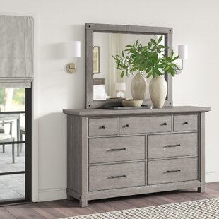 Devers 7 Drawer Dresser with Mirror