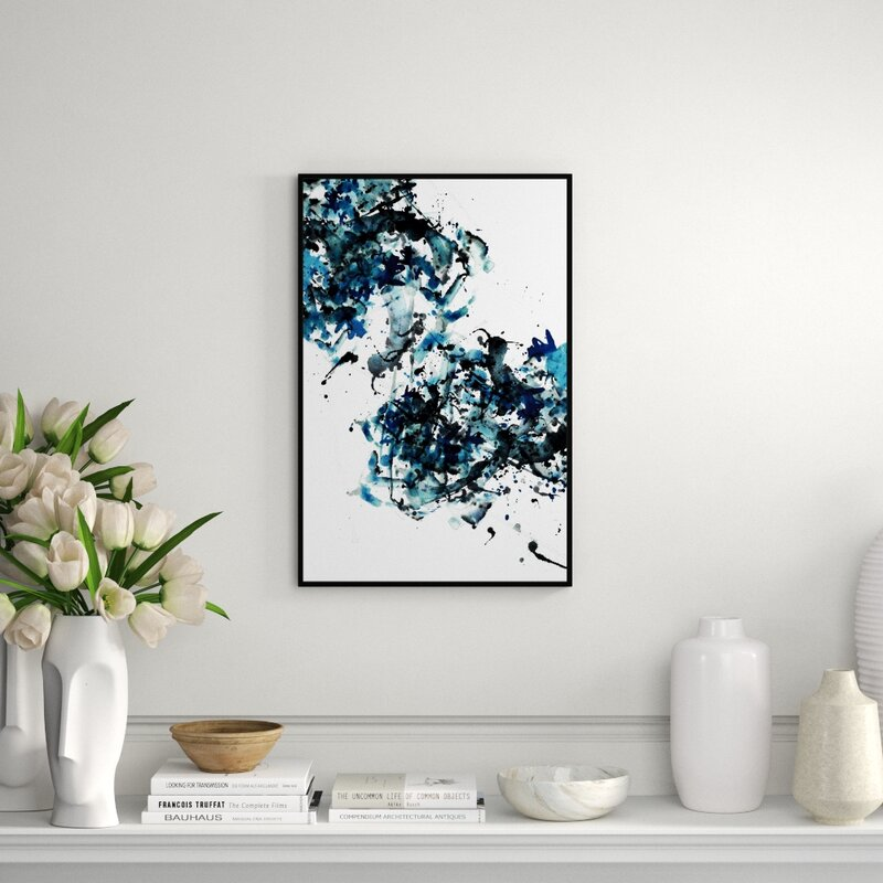 Jbass Grand Gallery Collection Sephia Blue Iii Framed Graphic Art Print On Wrapped Canvas Perigold