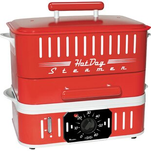 Retro Hot Dog Steamer with Lid